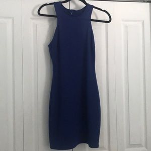 NWT Short Blue Soprano Dress w/ Open Cut Out Back